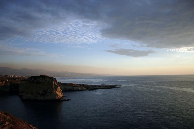 Beirut, on the coast