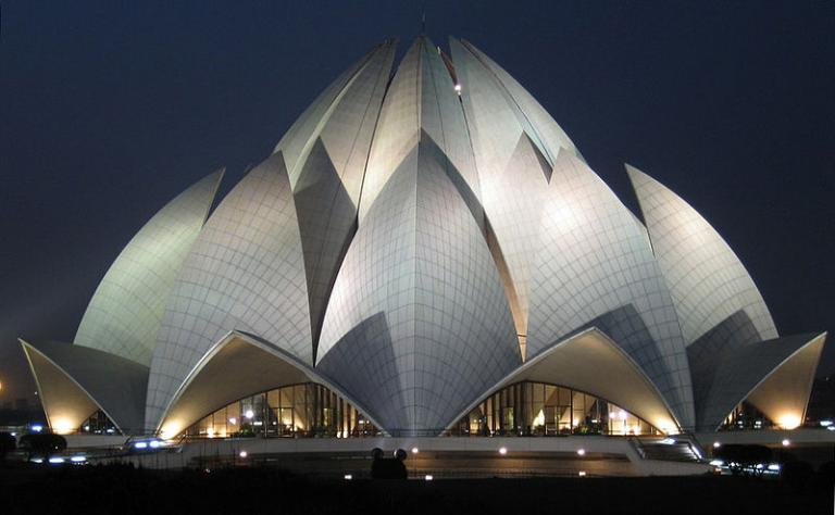 """The so-called """"Lotus Temple"""""""