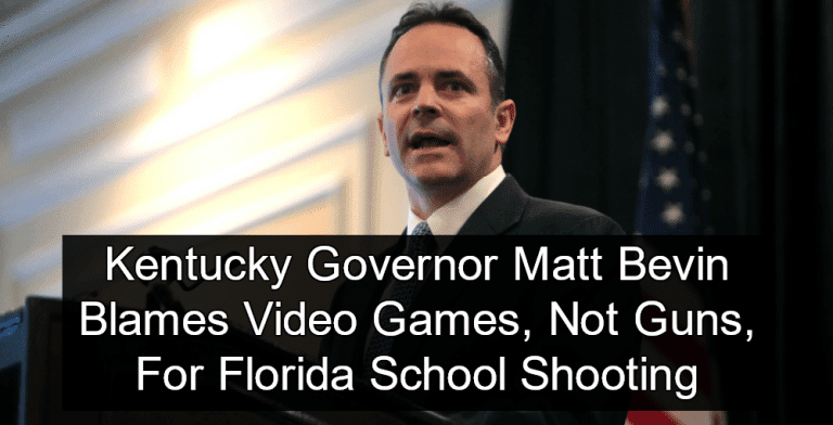 Kentucky Governor blames video games, and not guns, on Florida shooting