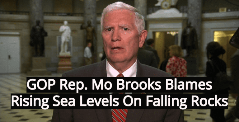 Rep. Brooks - Are rocks causing rising sea levels?