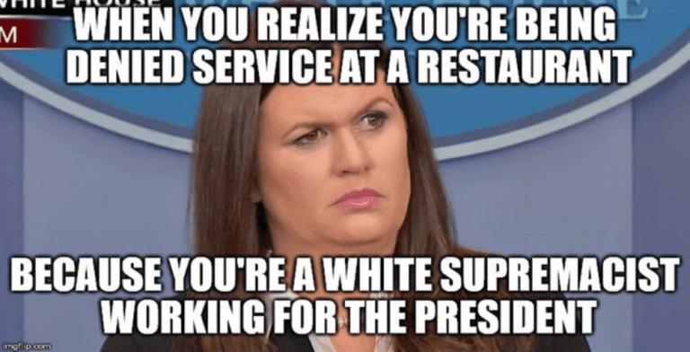 Virginia Restaurant Refuses To Serve Sarah Huckabee Sanders (Image via Reddit)