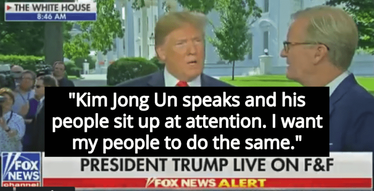 Trump: I Want Americans To Behave Like Subservient North Koreans (Image via Screen Grab)