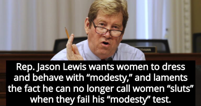 GOP Congressman Jason Lewis Is Sad He Can't Call Women 'Sluts' Anymore (Image via Screen Grab)
