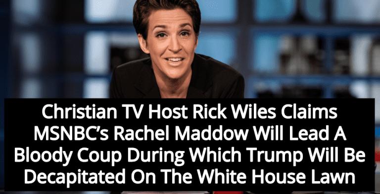 Christian TV Host Warns Rachel Maddow Will Lead Coup Against Trump (Image via YouTube)