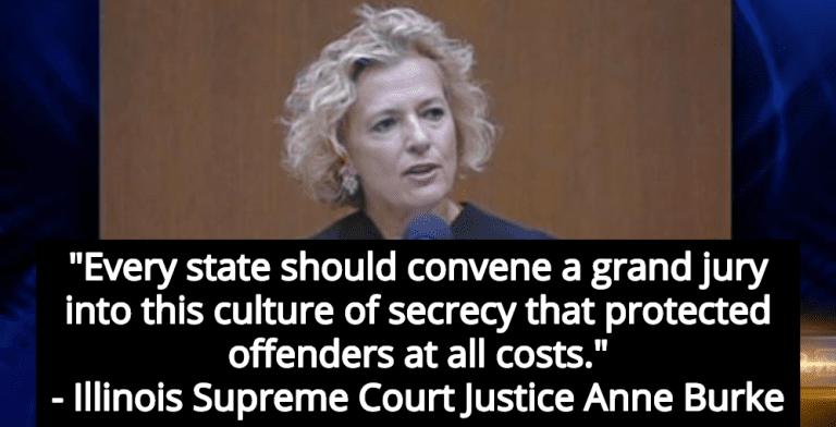 Illinois Supreme Court Justice Anne Burke Calls For National Investigation Into Predator Priests (Image via Screen Grab)