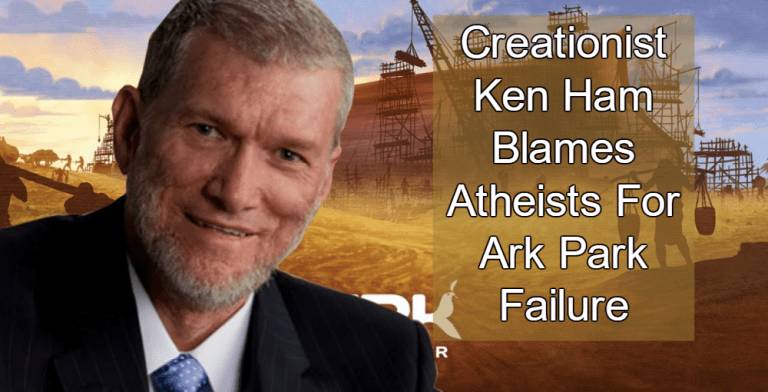 creationist ken ham blames atheists for reports that ark park is