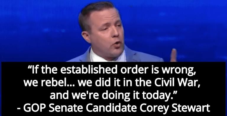 Virginia GOP Senate Candidate Corey Stewart Defends Slavery, Confederacy (Image via Twitter)
