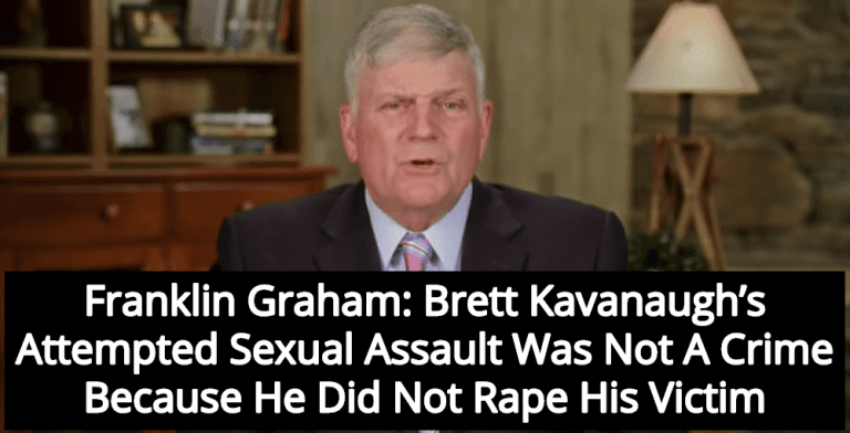 Franklin Graham: Kavanaugh's Attempted Sexual Assault Was Not A Crime (Image via Screen Grab)