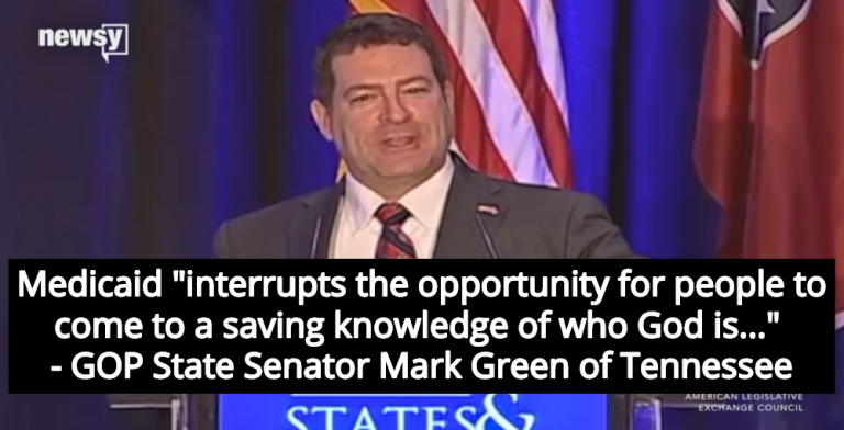 GOP Senator Opposes Medicaid Expansion Because It Prevents People From Finding God (Image via Screen Grab)
