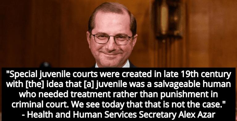 Trump's Health Secretary Azar: 'Jail Juvenile Offenders Until Middle Age' (Image via LinkedIn)