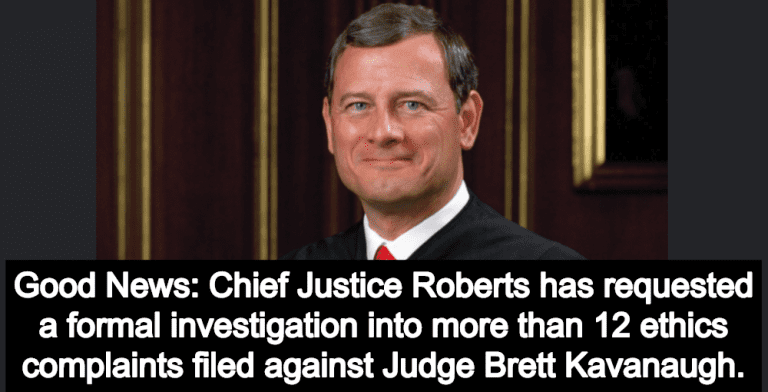 Chief Justice Roberts Opens Investigation Into Ethics Complaints Against Kavanaugh (Image via Wikimedia)