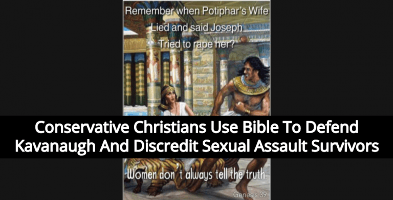 Christians Use Bible To Defend Kavanaugh And Discredit Sexual Assault Survivors (Image via Twitter)