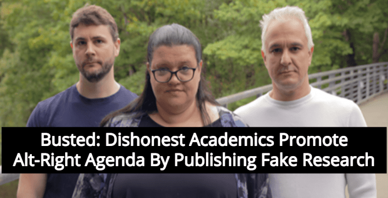 Busted: Dishonest Academics Promote Alt-Right Agenda By Publishing Fake Research (Image via Facebook)
