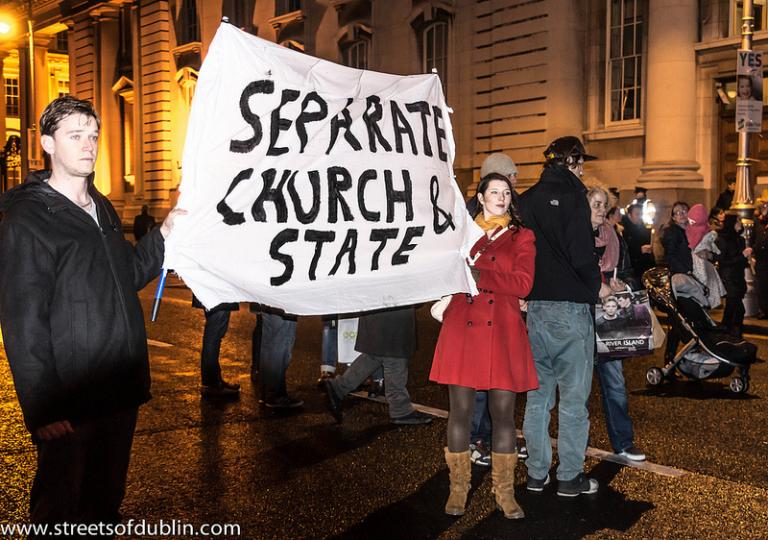 "The people of Ireland revolt against the ""we can't help you"" stance of the church."