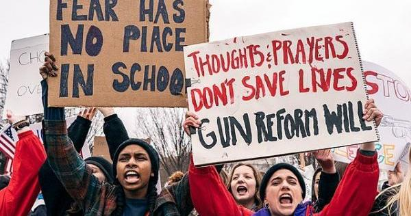 High schoolers across the land take to the streets demonstrating for gun control. Now it's the NRA and their GOP lackies ducking for cover.