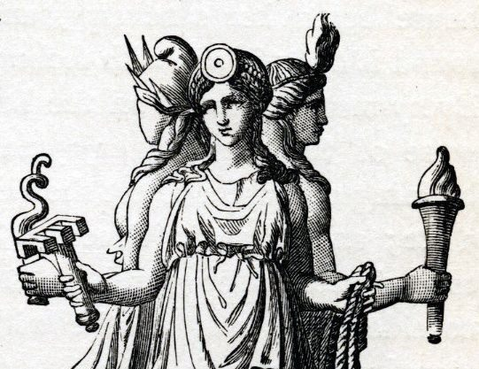 hecate hekate triple goddess crossroads pronounce pronunciation