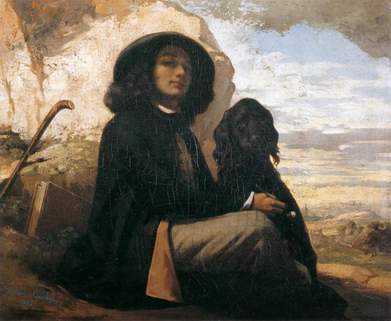 Gustave_Courbet_-_Self-Portrait_with_Black_Dog_hekate-hecate-goddess-class-