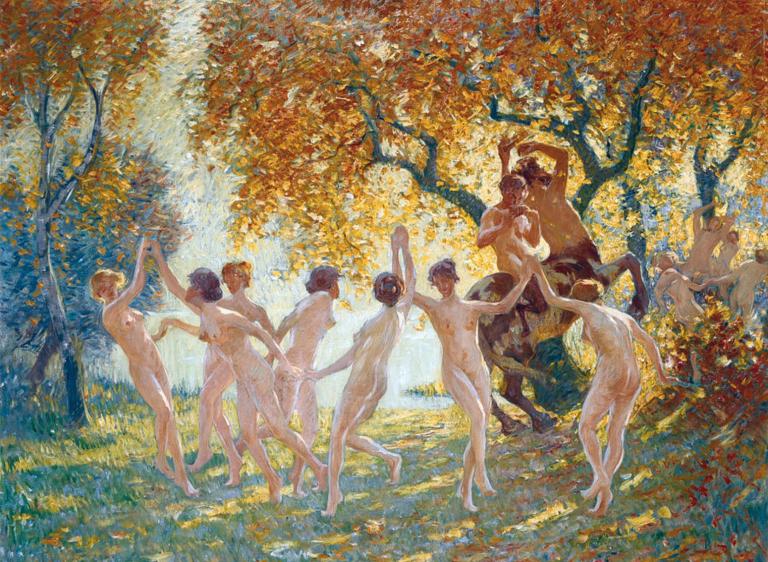 alfons-van-beurden-dance-of-joy-dancing-nymphs-1916-pan-pleasure