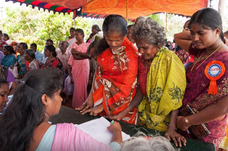 Women at a Gospel for Asia supported medical camp - KP Yohannan - Gospel for Asia