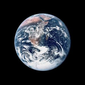 The blue marble photo of Earth