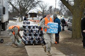 national guard delivers water in Flint Michigan - KP Yohannan - Gospel for Asia