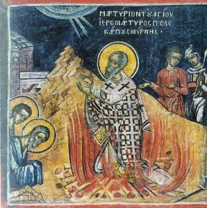 Polycarp suffers martyrdom