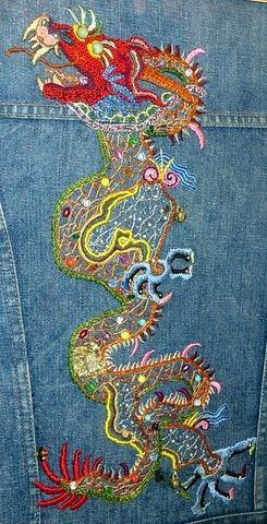 Dragon Embroidery by Liz Fisher.