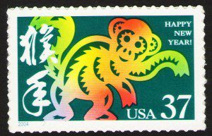 Monkey New Year Stamp. Photo by Bob Fisher