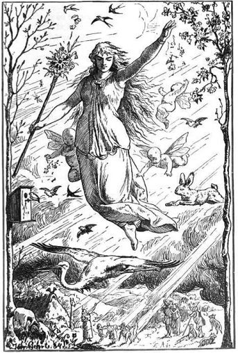 """Ostara"", by Johannes Gehrts (1884, public domain)"