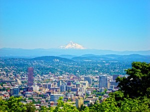 Mt Hood and Portland Creative Commons Photo by truflip99