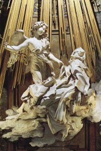 Pierced by a flaming arrow. sculpture by Bernini