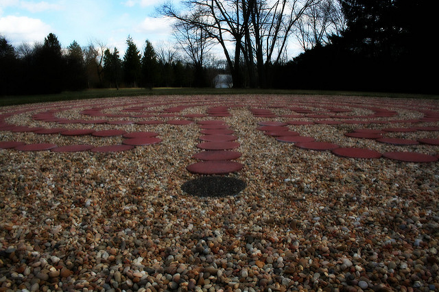 A labyrinth at the Theosophical Society of America, (c)2011 Polly Peterson - used with permission