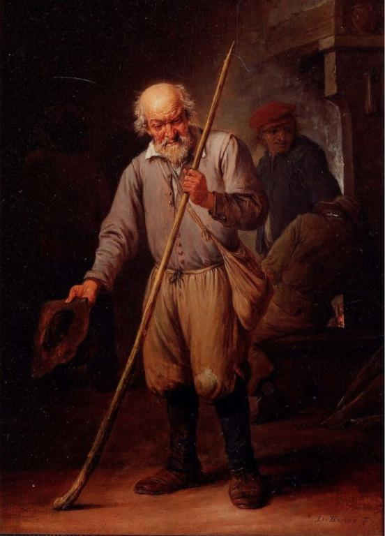 """""""Old Man with a Walking Stick"""" by Davied Teniers the Younger, via Wikimedia Commons"""