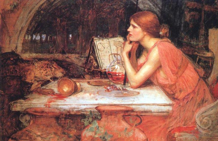 The Sorceress, John William Waterhouse, via Wikimedia Commons