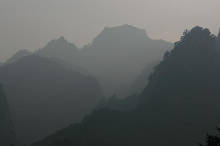 Mountains in the morning mist