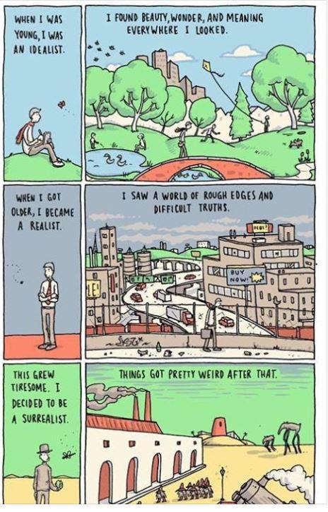 Philosophy Matters cartoon Kierkegaard
