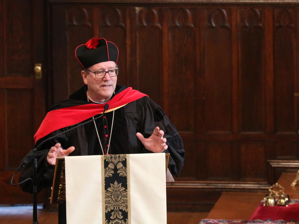 Bishop Barron at PFIC graduation in 2016 (Dominican Friars of Saint Joseph CC BY-NC-ND 2.0)