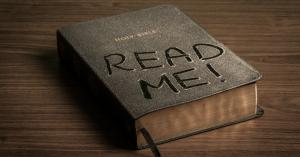 "This Bible says ""Read Me!"""