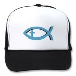 The Jesus-fish trucker hat: for those who can't think of any other way to show the world that they are Christians.
