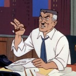 "Just in case you couldn't figure out that Peter Parker's boss at The Daily Bugle is  the bad guy, look at his mustache. And if that's too subtle, consider that he was named ""Jonah."""