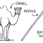 Camel-and-needle