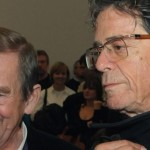Lou Reed (right) with Vaclav Havel, after the revolution.