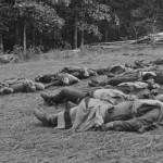 Confederate soldiers slain during their attack on the United States. These men did not fight and die for freedom.