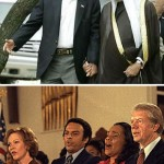 Presidents holding hands with Kings.
