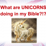 The unicorns of the King James Bible