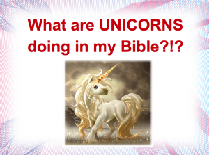 The Unicorns Of The King James Bible Fred Clark