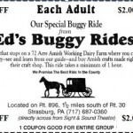Print this out and you can save two bucks per adult on a genuine Amish buggy ride.