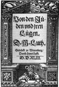 """The title page of Martin Luther's """"On the Jews and Their Lies"""" (via Wikipedia)."""