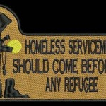 Please don't suddenly pretend you care about homeless veterans for just as long as it allows you to oppose helping refugees, because that's hurting both veterans and refugees and it's making you miserable