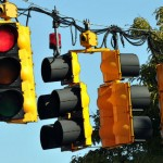 A red traffic light: This election is about one idea
